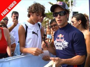 FREE VIDEO: Dovizioso challenges Cairoli & Savadori in Red Bull Aqua Battle