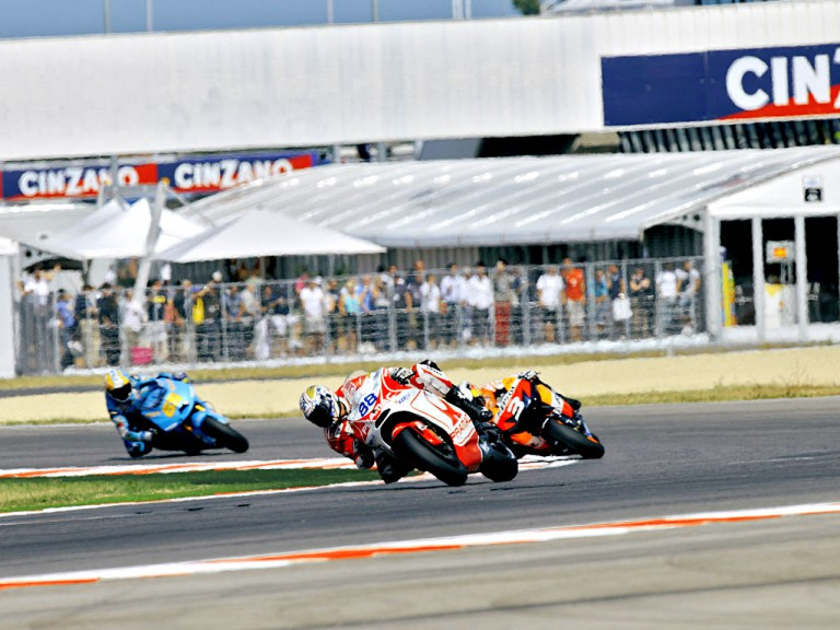 MotoGP action in Misano