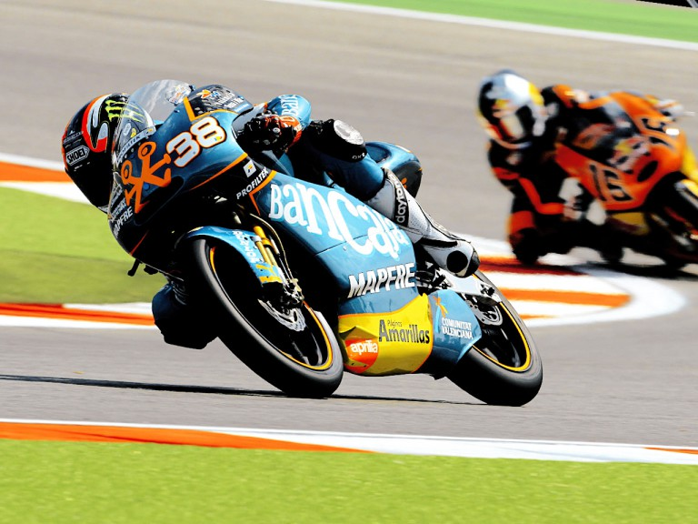 Bradley Smith in action in Misano