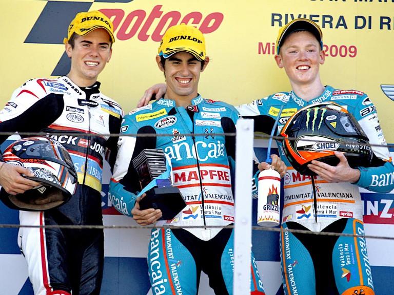 Terol, Simon and Smith on the podium at Misano