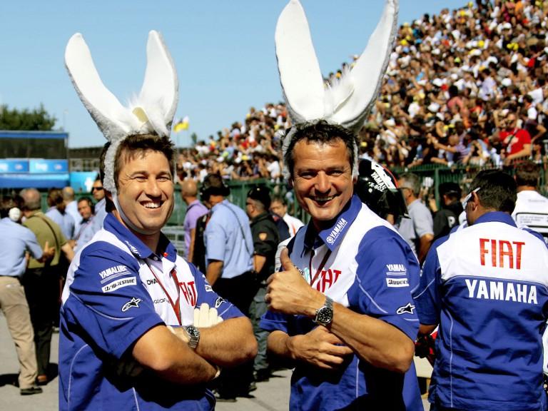 Fiat Yamaha staff celebrate Rossi