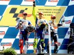 Lorenzo, Rossi and Pedrosa on the podium at Misano