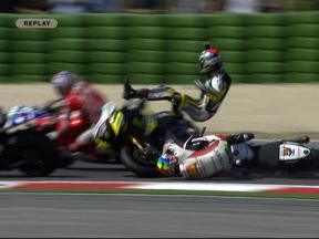 Multiple crash during MotoGP race in Misano