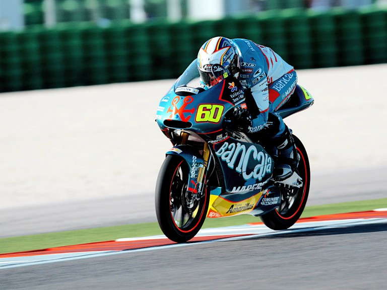 Julián Simón in action in Misano