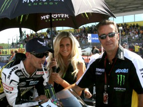 Hervé Poncharal and Colin Edwards at Starting Grid