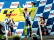 Lorenzo, Pedrosa an Rossi on the podium at Misano