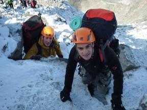 Dani Pedrosa climbing the Mont Blanc