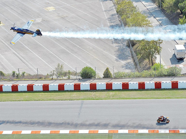 Pedrosa gets the Red Bull Air Race experience in Barcelona