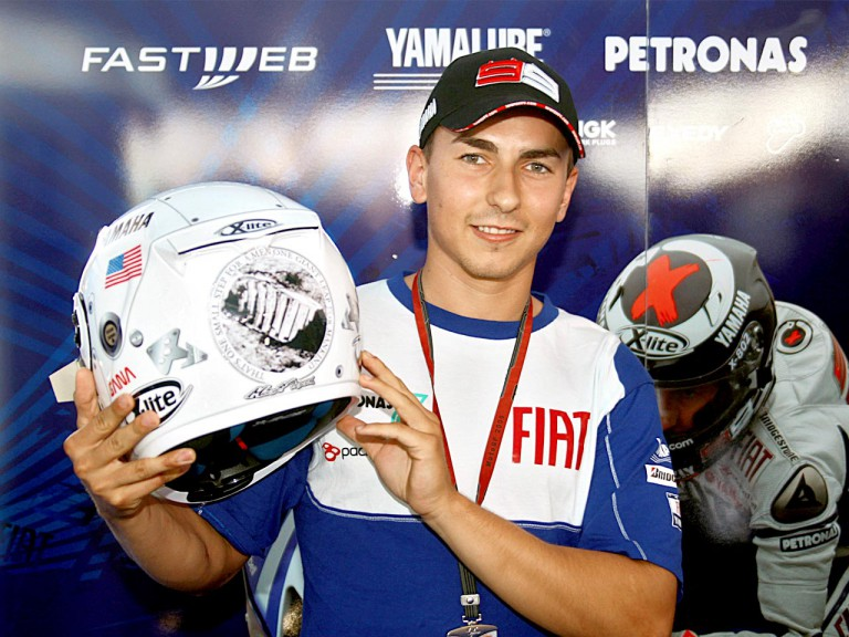 Lorenzo´s helmet for Estoril
