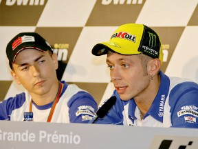 Lorenzo and Rossi at the bwin.com Grande Premio de Portugal