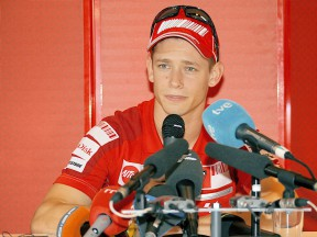 Casey Stoner in press conference at Estoril