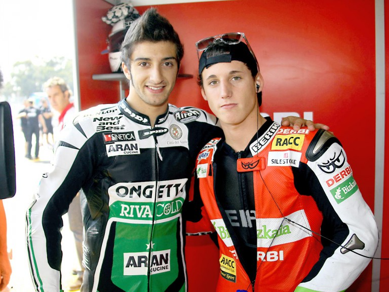 Andrea Iannone and Pol Espargaró at Estoril