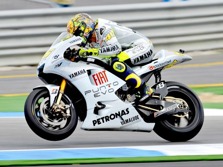 Valentino Rossi in action in Estoril