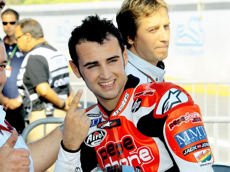 Héctor Barberá in the Parc Fermé after QP in Estoril