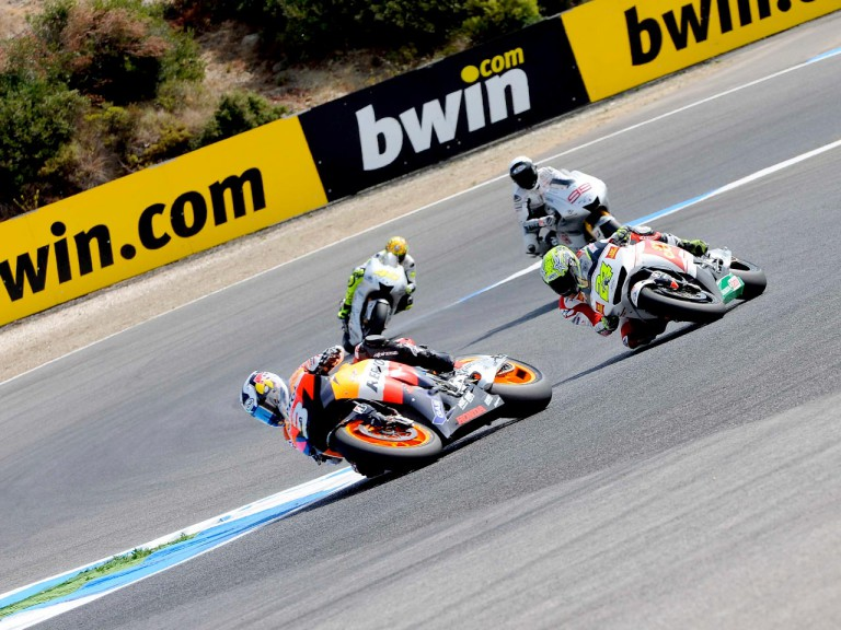 MotoGP group in action in Estoril