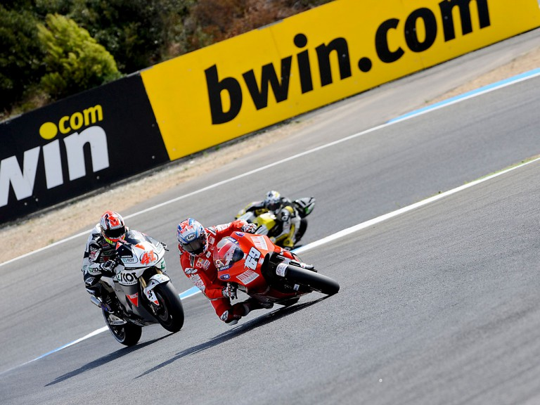 hayden and Talmacsi in action in Estoril