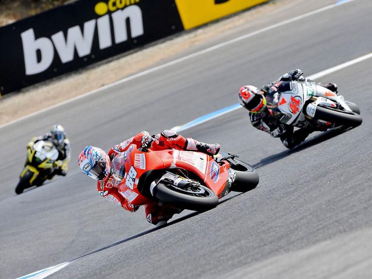 Hayden riding ahead of Talmacsi in Estoril