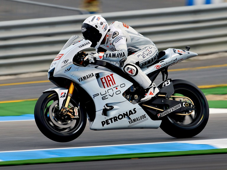 Jorge Lorenzo in action in Estoril