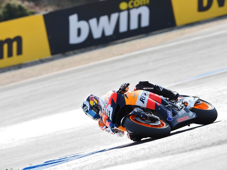 Dani Pedrosa in action in Estoril