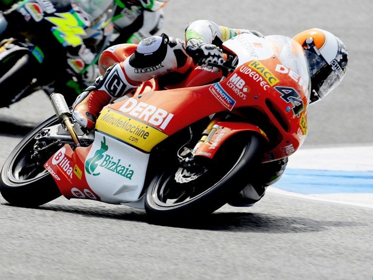 Pol Espargaró in action in Estoril