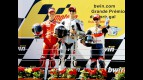 Stoner, Lorenzo and Pedrosa on the podium at Estoril