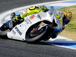 Valentino Rossi in action in Estoril