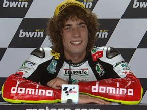Marco Simoncelli interview after race in Estoril