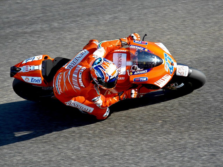 Casey Stoner in action in Estoril