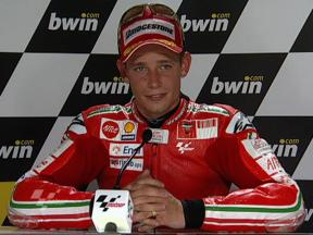 Casey Stoner interview after race in Estoril
