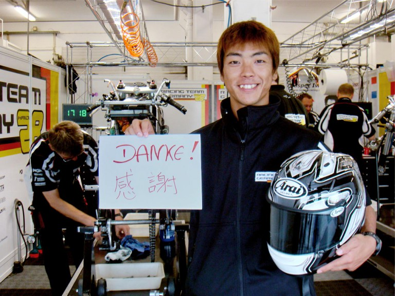 Aoyama Shuhei in the Team Germany garage