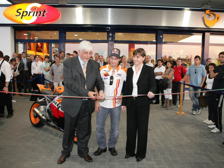 San Bellino's Repsol petrol station inaguration attended by MotoGP rider Andrea Dovizioso