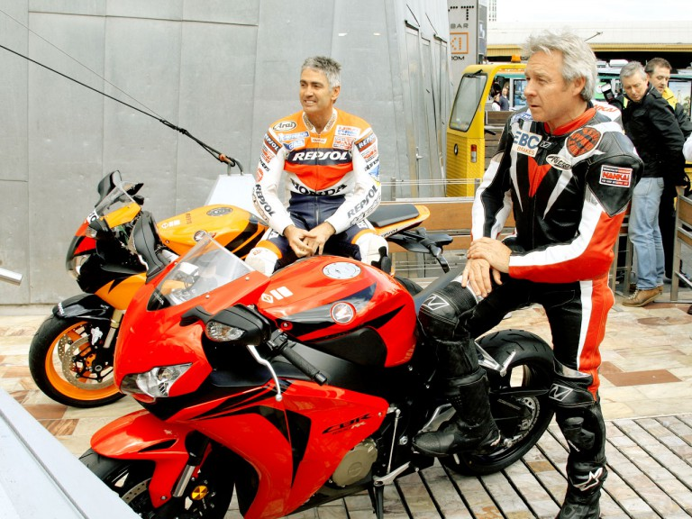MotoGP Legends Doohan and Gardner in Melbourne
