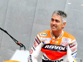 Five-time World Champion Mick Doohan at Federation Square in Melbourne