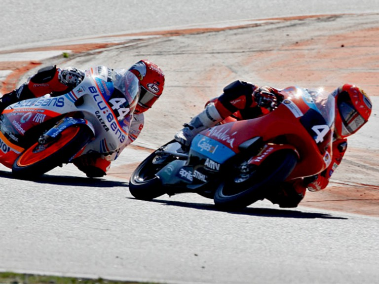 Alberto Moncayo and Miguel Olivaira in action in the CEV Blucker at Catalunya