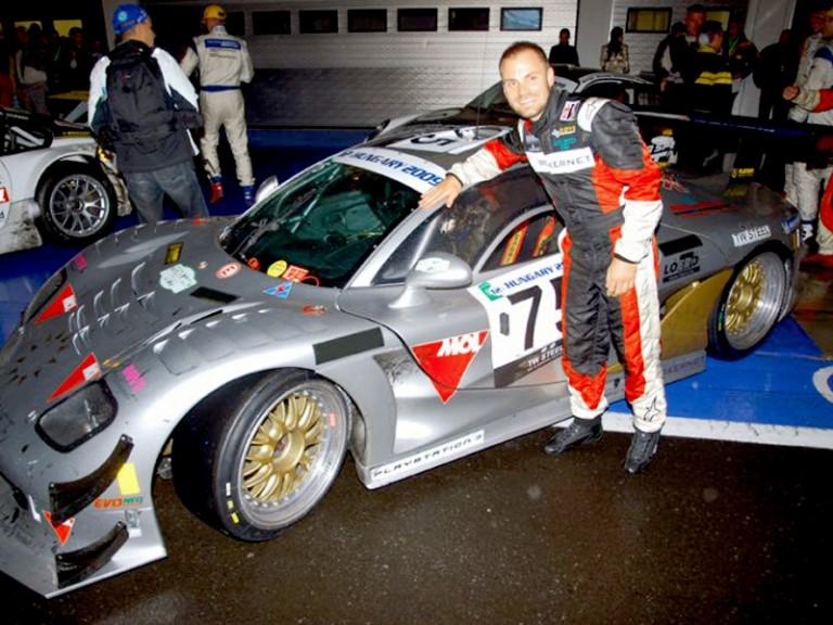 Gabor Talmacsi enjoys 12-hour Hungarian car race