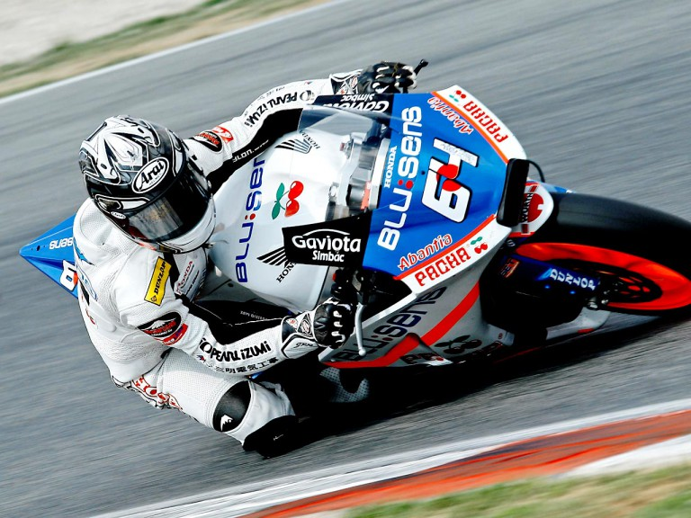 Shuhei Aoyama in Moto2 action at Catalunya