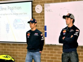 Dovizioso and Pedrosa visit Honda training center