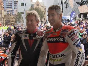 Doohan, Gardner and Aoyama enjoy Melbourne ride