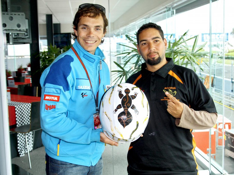 Vermeulen´s helmet painted by Ronald Edwards for Phillip Island