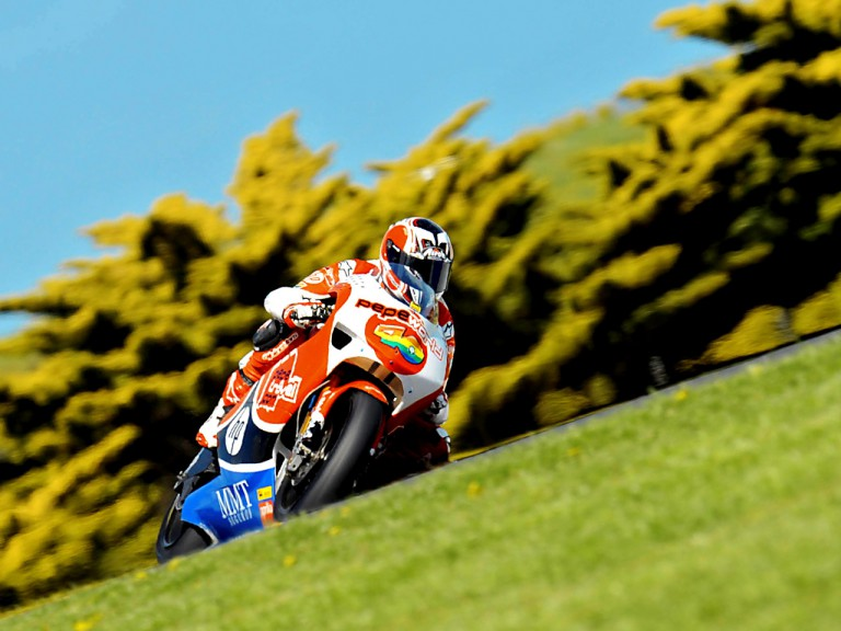 Héctor Barberá in action in Phillip Island
