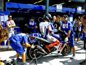 Jorge Lorenzo in the pit lane