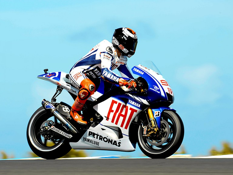 Jorge Lorenzo in action in Phillip Island