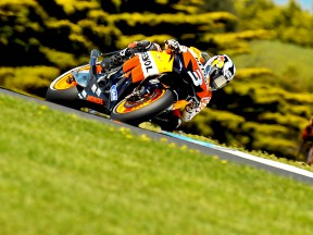 Dani Pedrosa in action in Phillip Island