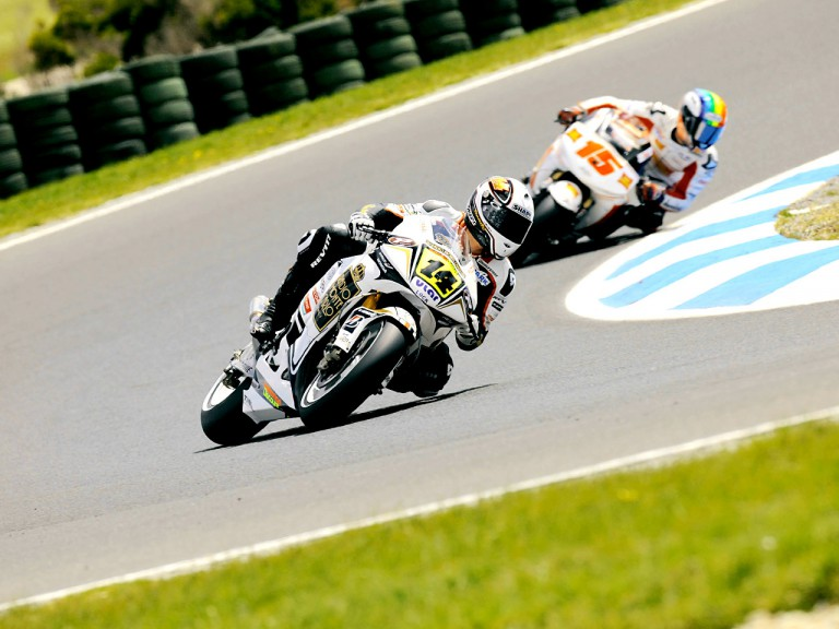 De Puniet and De Angelis in action in Phillip Island