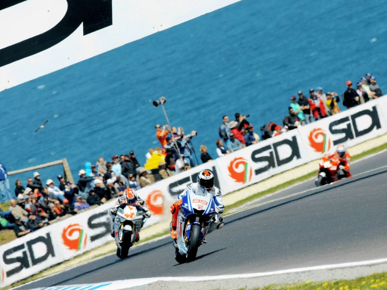MotoGP action during FP1 at Phillip Island
