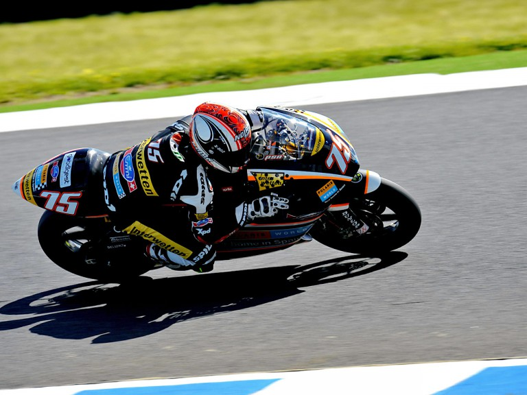 Mattia Pasini in action in Phillip Island