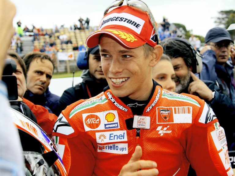 Casey Stoner after QP in Phillip Island
