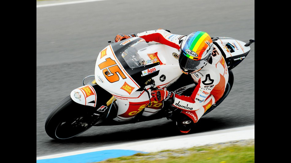 Alex de Angelis in action in Phillip Island