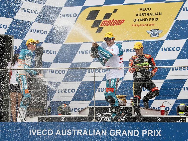 Smith, Simón and Cortese on the podium at Phillip Island