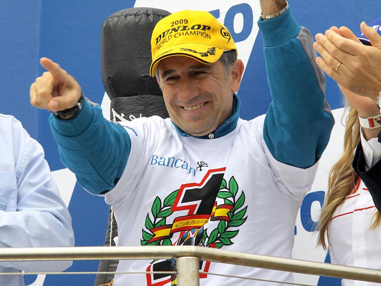 Jorge Martínez Aspar on the podium at Phillip Island